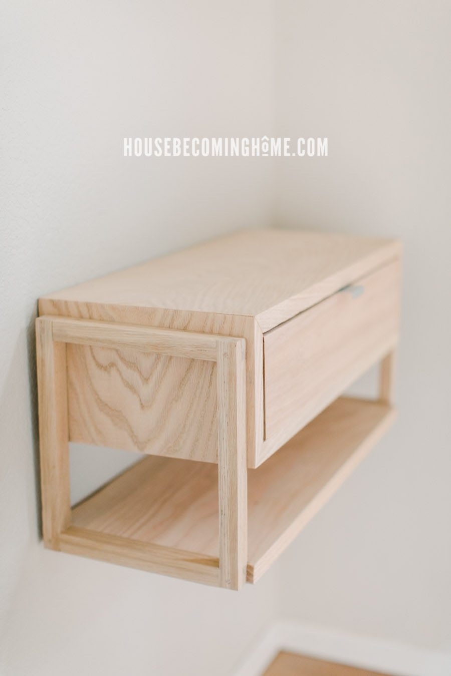 DIY Modern Floating Nightstand with Drawer