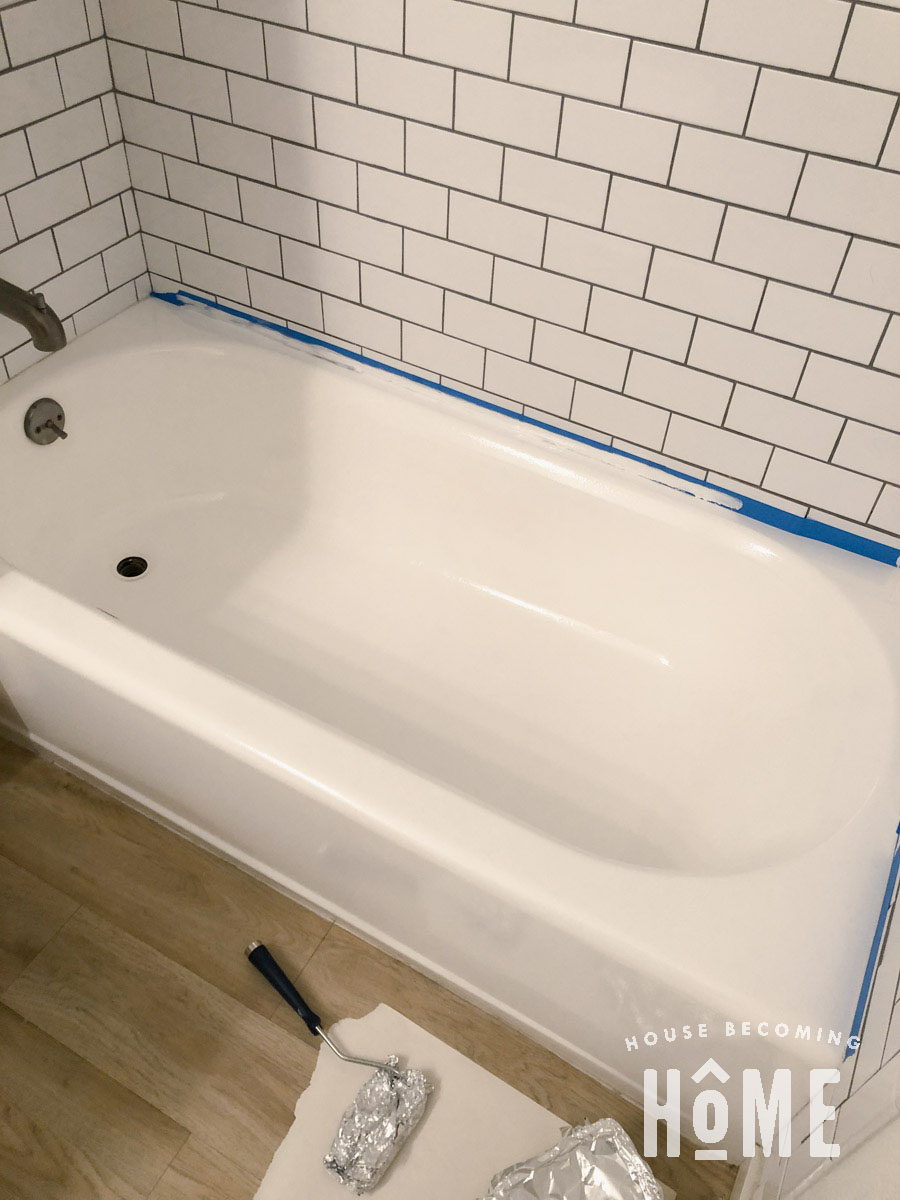 Fixing Worn Areas in Painted Bathtub