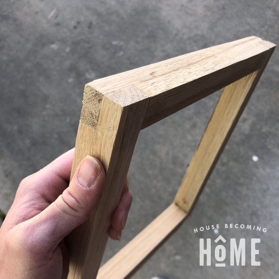Half Lap Joint Nightstand Side Complete