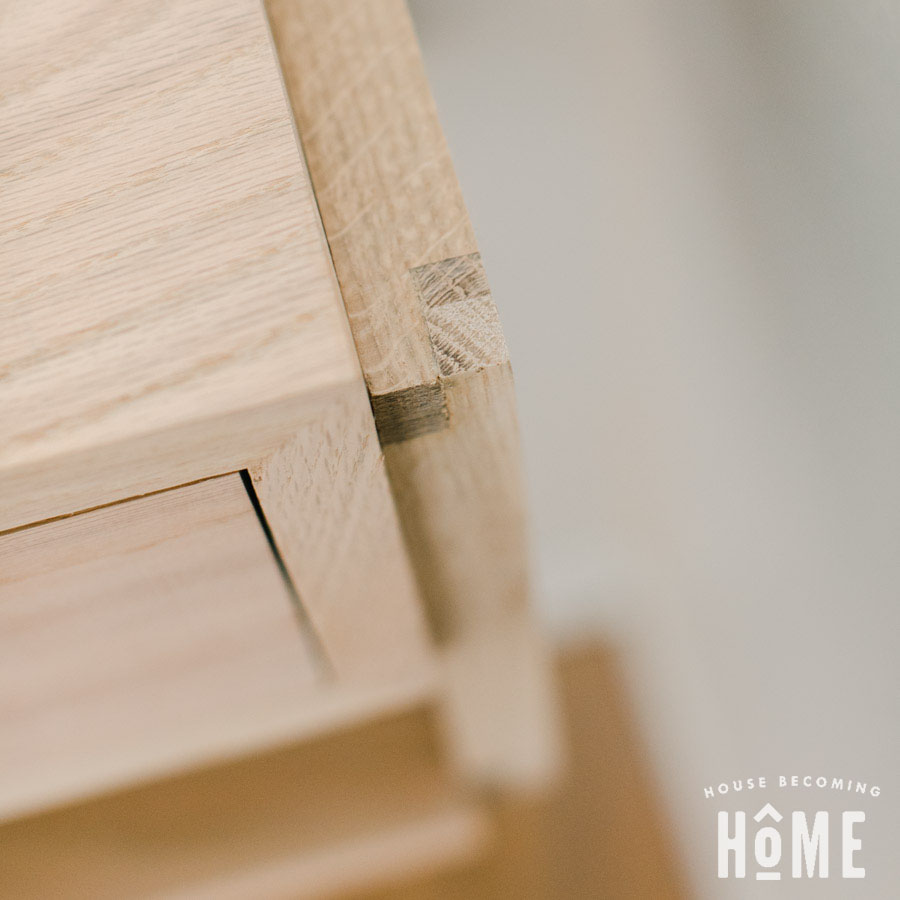 Half Lap Joints Modern Nightstand