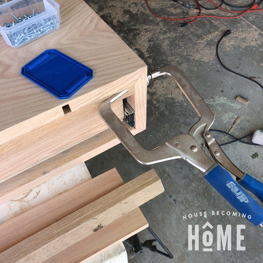 Making a French Cleat inside Floating Nightstand
