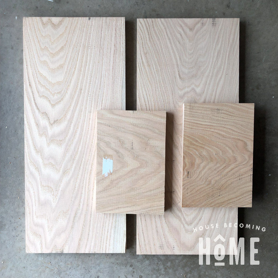 Oak Lumber for Nightstand Top and Sides