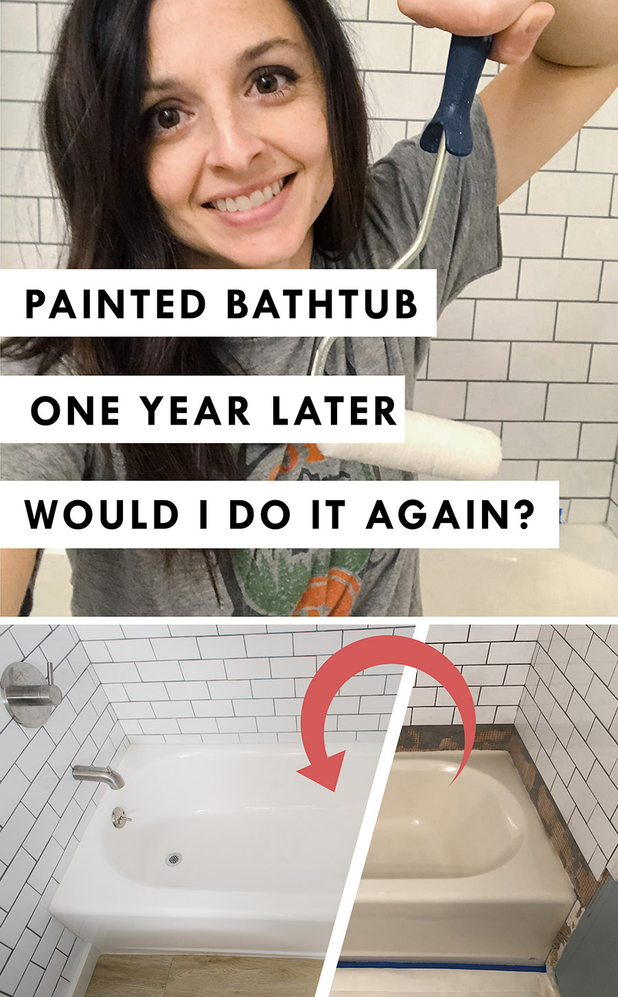 What I think of my Painted Bathtub One Year Later
