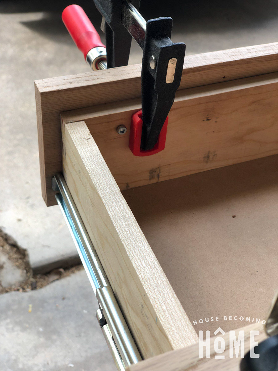 Screw Drawer Front on From Inside Drawer