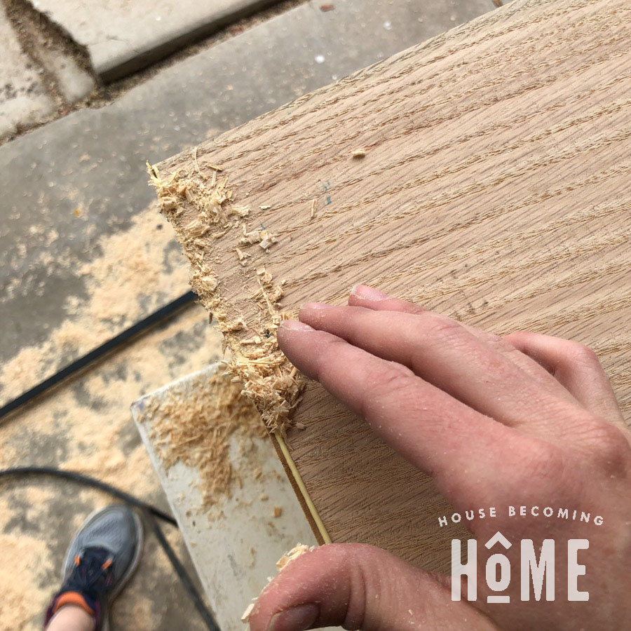 Using Sawdust to Fix Mitered Edges that Don't Perfectly Meet 2