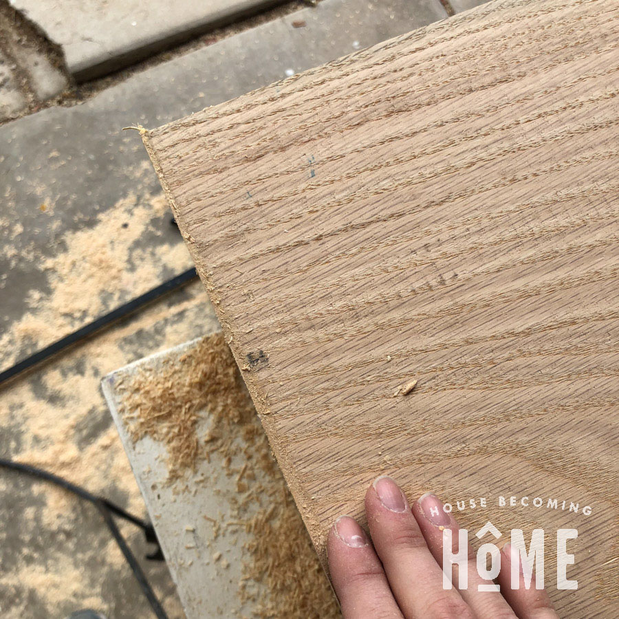 Using Sawdust to Fix Mitered Edges that Don't Perfectly Meet 3