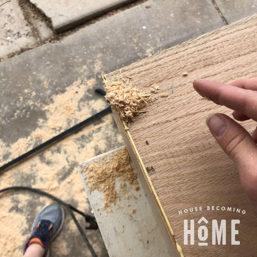 Using Sawdust to Fix Mitered Edges that Don't Perfectly Meet