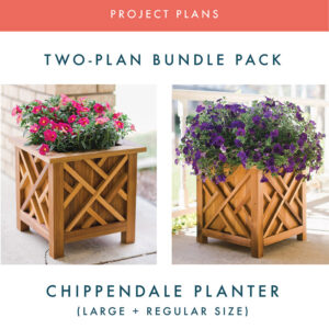 Chippendale Planter Plans Bundle Pack