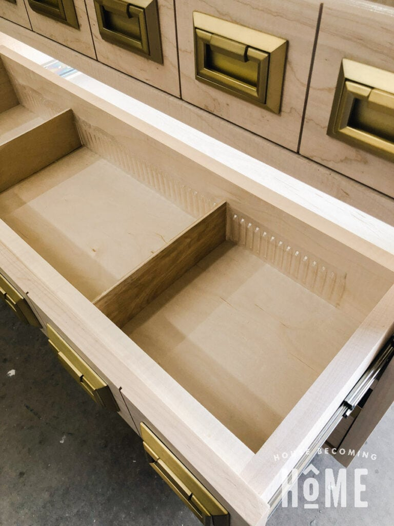 Add Rockler Dividers to Bookcase Drawers