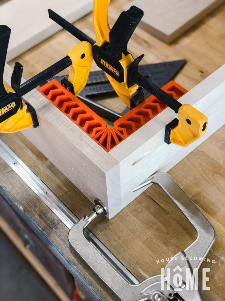 Construct Bookcase Drawer with Clamps