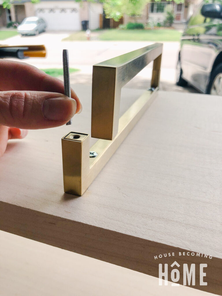 How to Make Brass Legs from Brass Pulls
