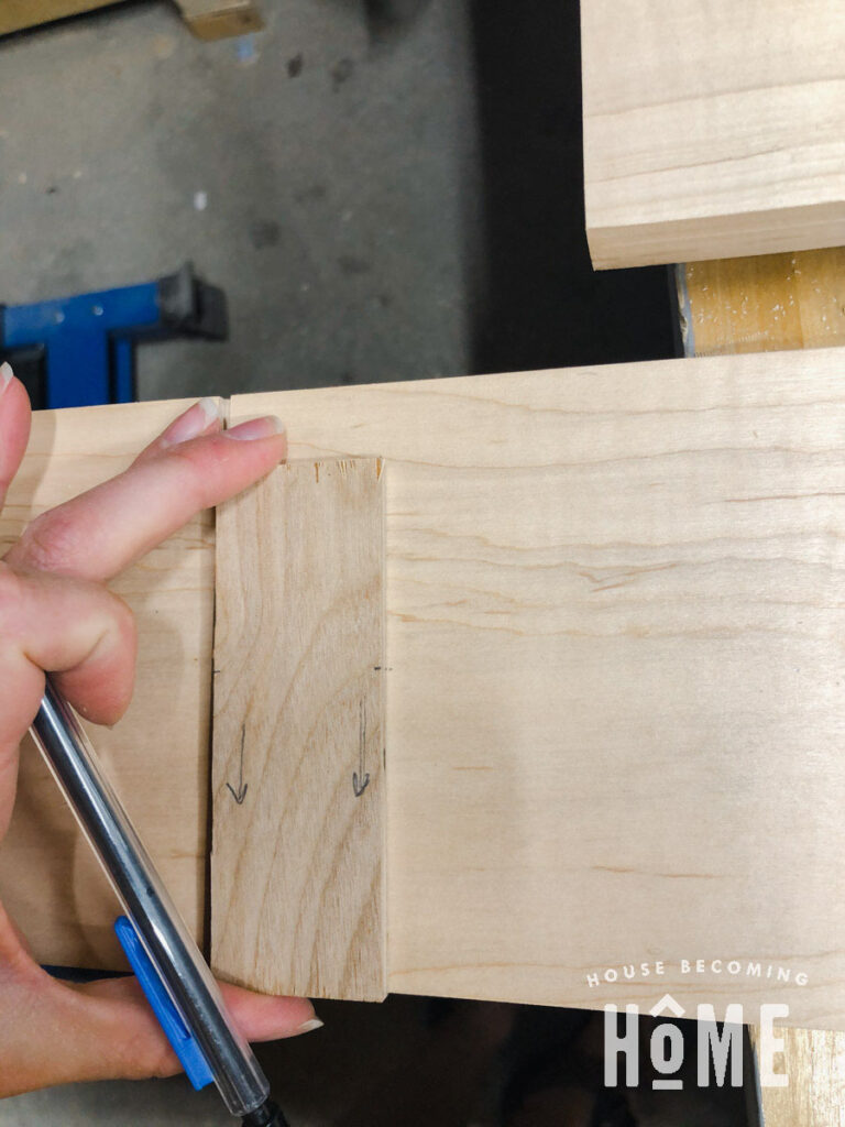 Scrap Wood Marking Placement for Hardware