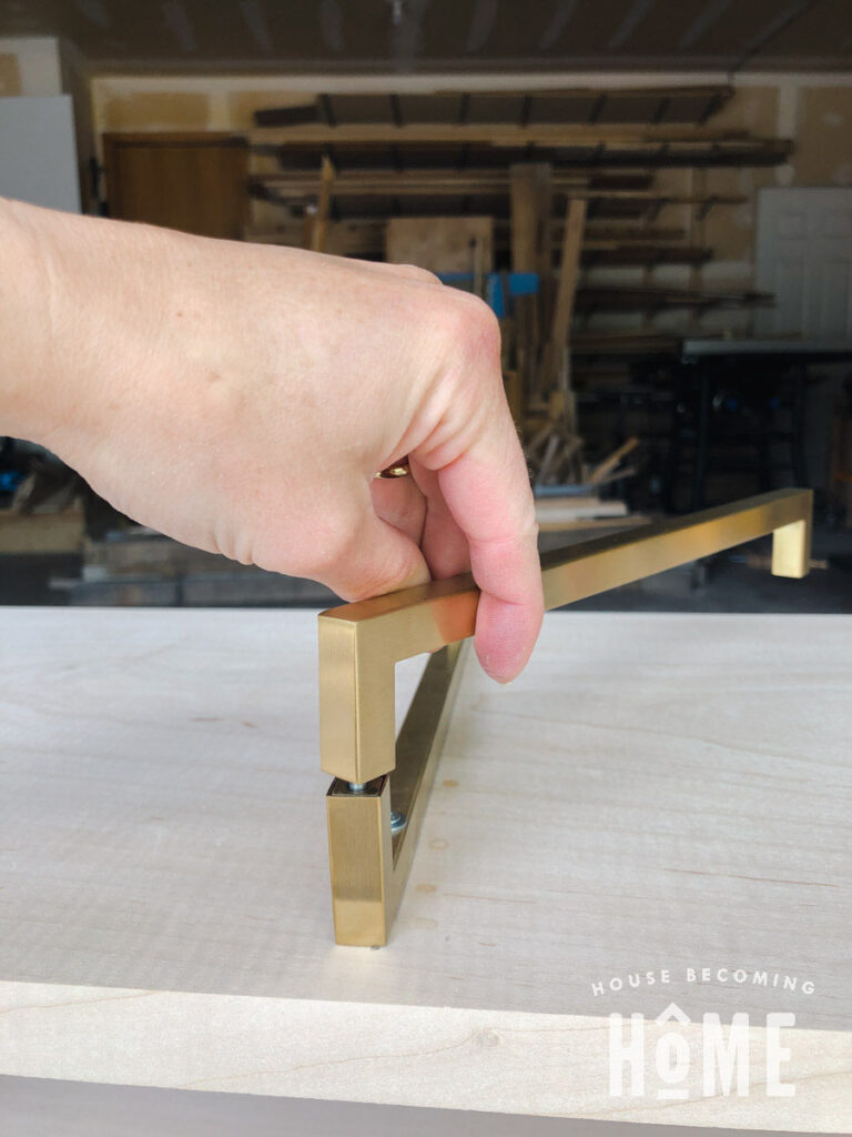 Screw Together Brass Pull to Brass Pull to Make Legs 2