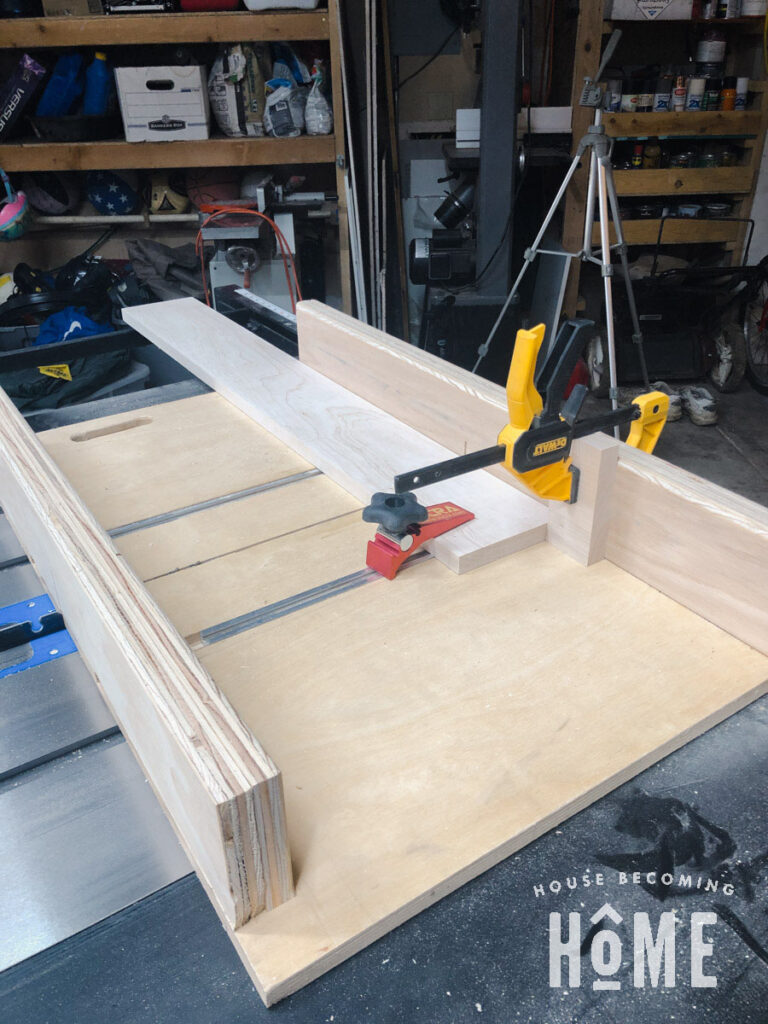 Use Crosscut Sled to Cut Grooves in Drawer Front