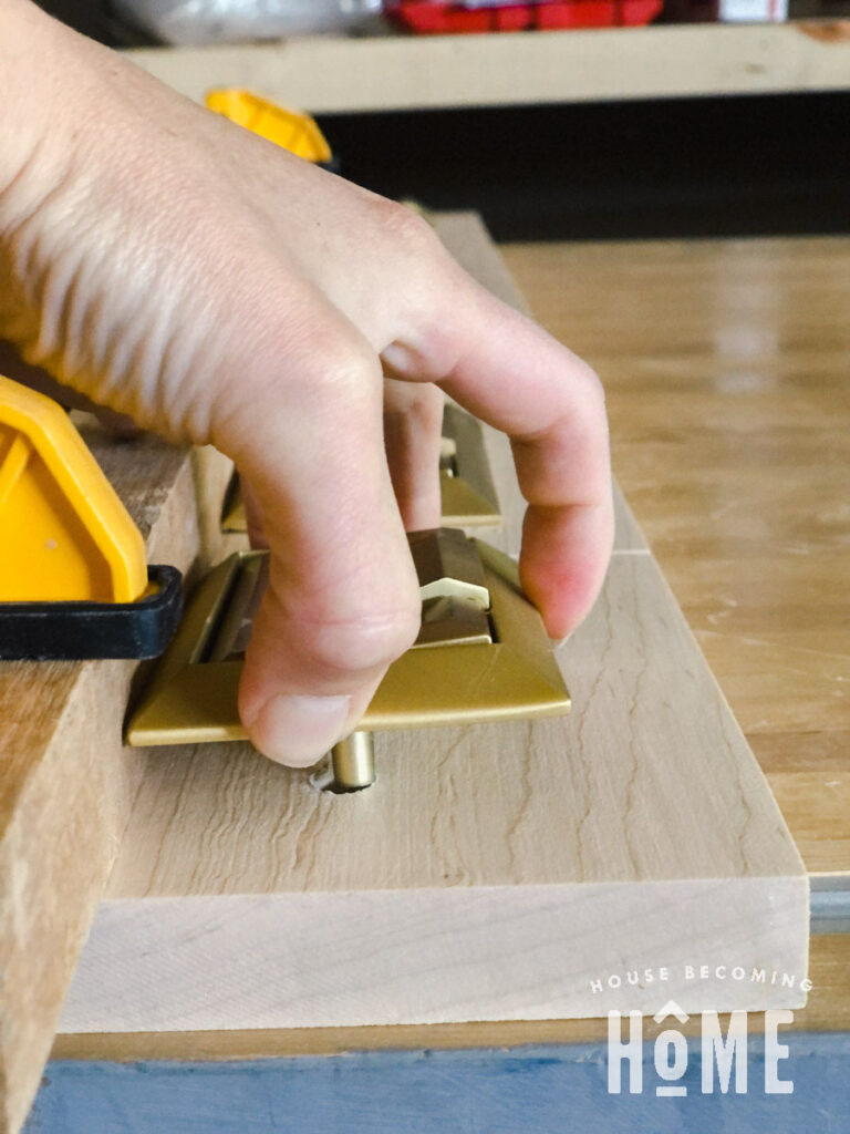 Use Straight Edge and Clamps to Keep Hardware Lined Up