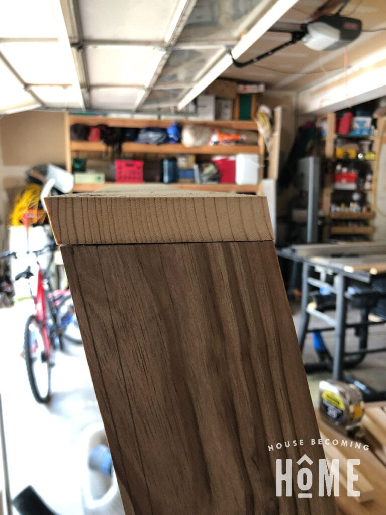 Beveled Edges of Chair Back Top