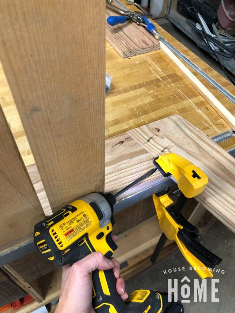 Joining Chair Sides with Pocket Screws