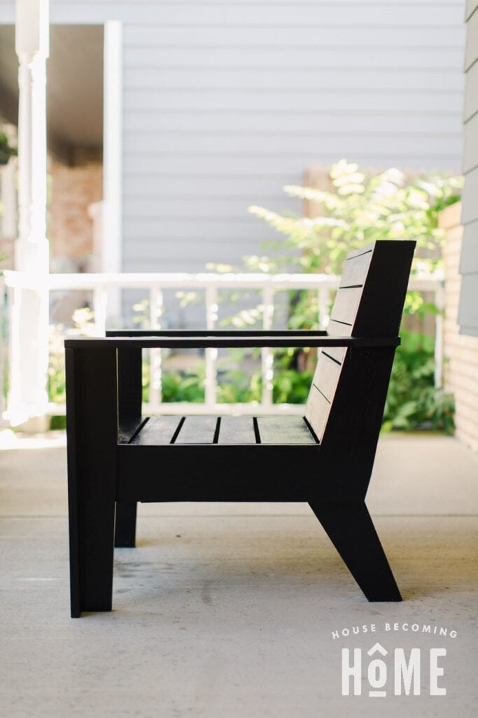 Modern Adirondack Chair Finished Plans-100