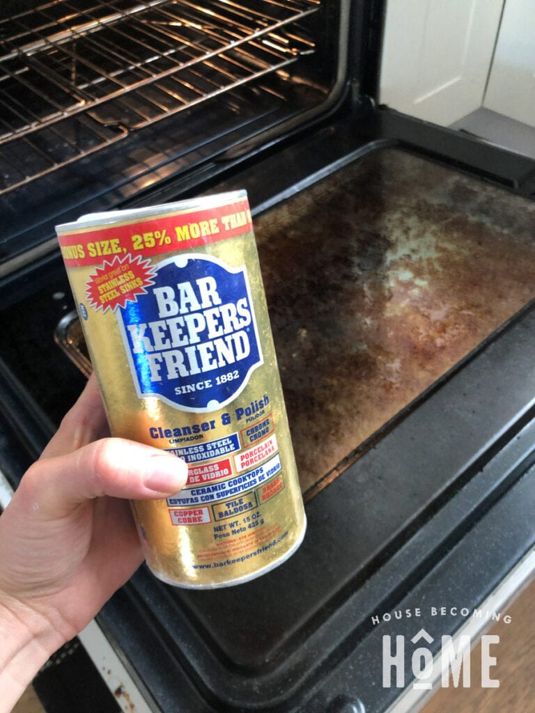What I Use to Clean Oven Glass Bar Keepers Friend