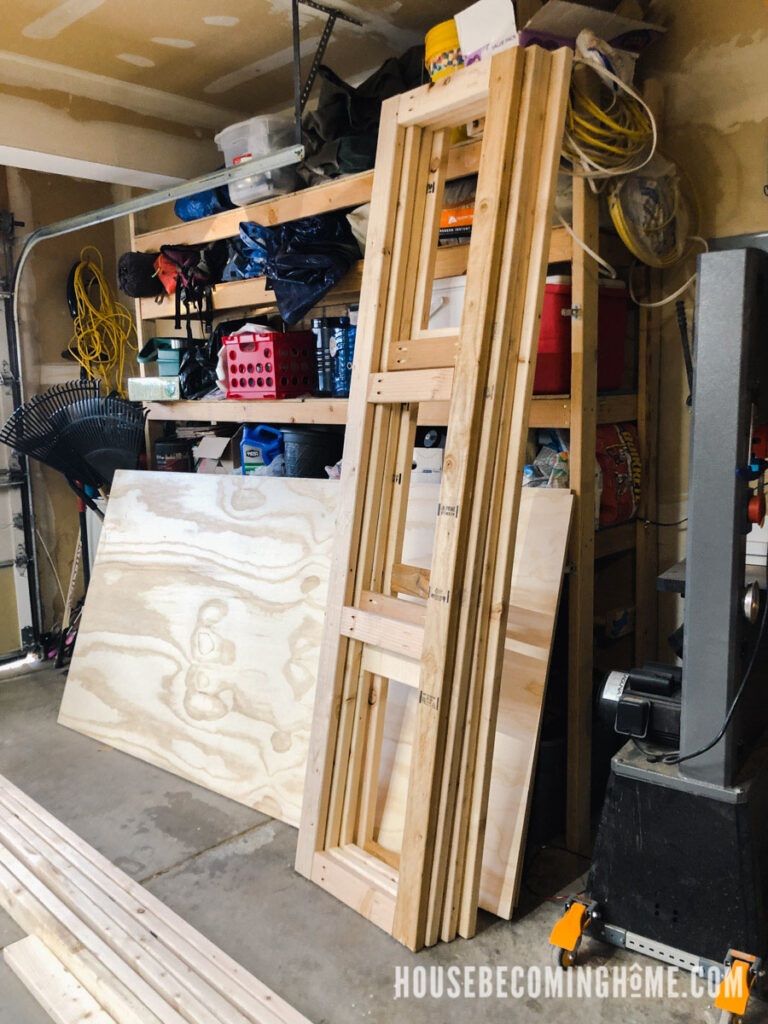 Build Bedroom Cabinets Side Frames
