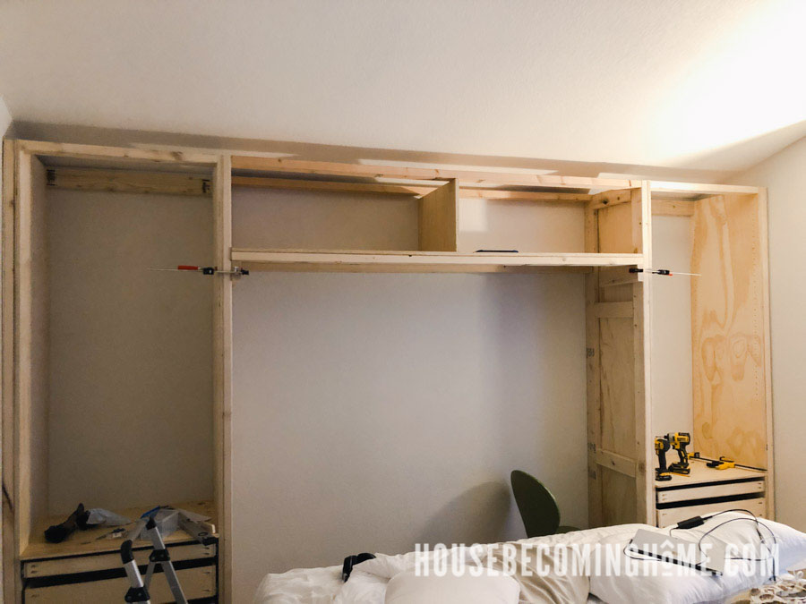 Center Bedroom Storage Frame