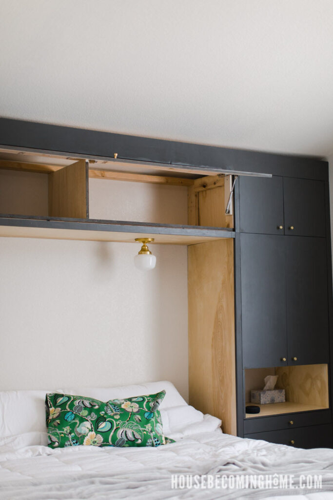DIY Bedroom Cabinet Lift Door