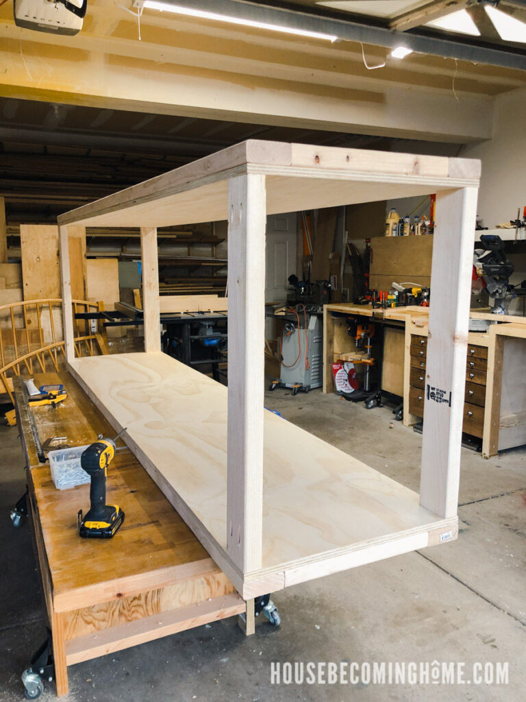 Finished Frame for Built-in Bedroom Cupboards