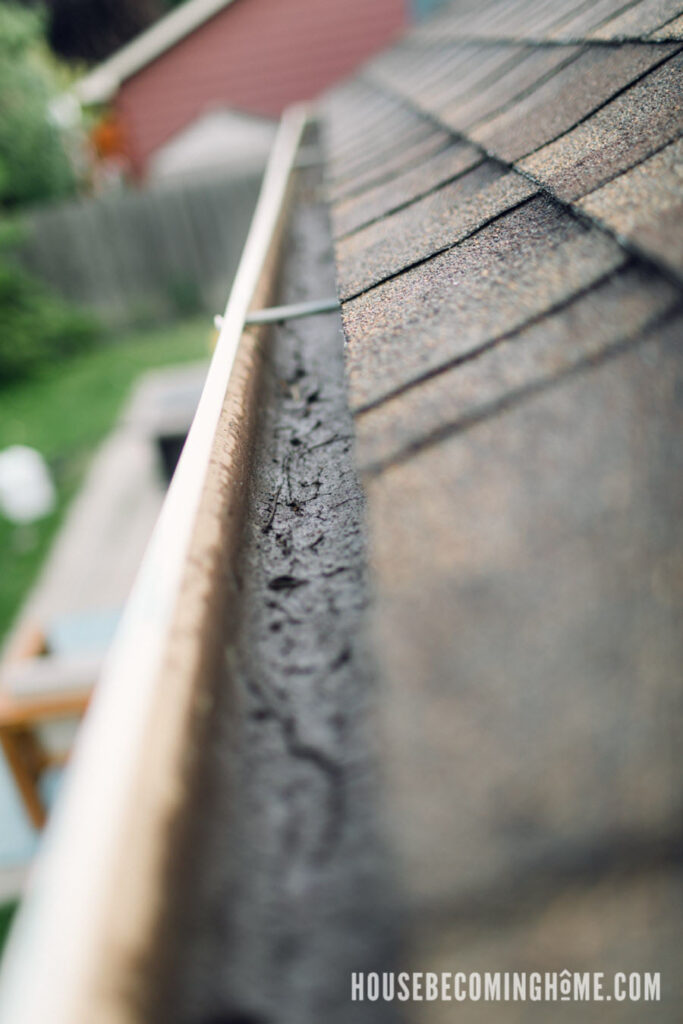 Cleaning House Rain Gutters