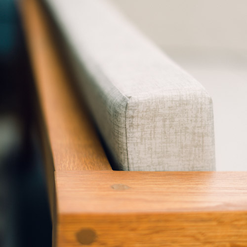 Finishing Touches for the Outdoor Sofa: Making Modern Couch Cushions, Applying Finish, and More