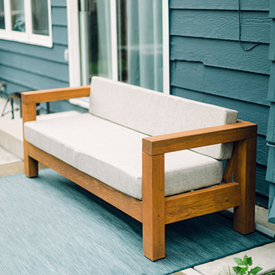 How To Build a Modern Outdoor Couch
