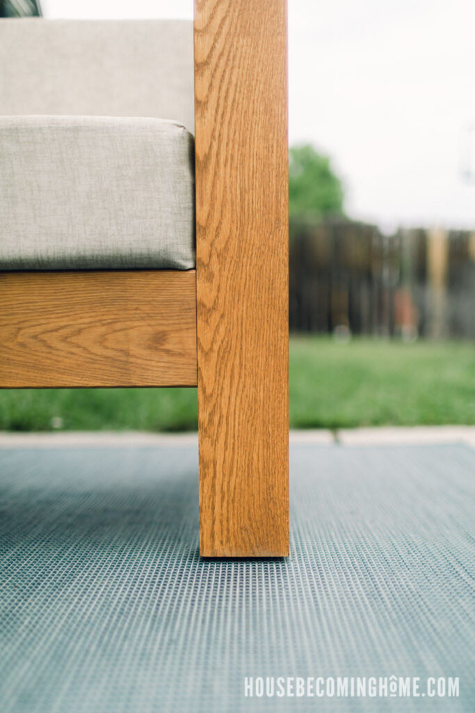 Feet Levelers on Outdoor Couch