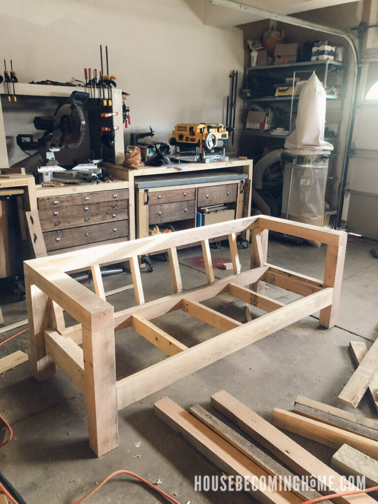 Finished Outdoor Couch Frame