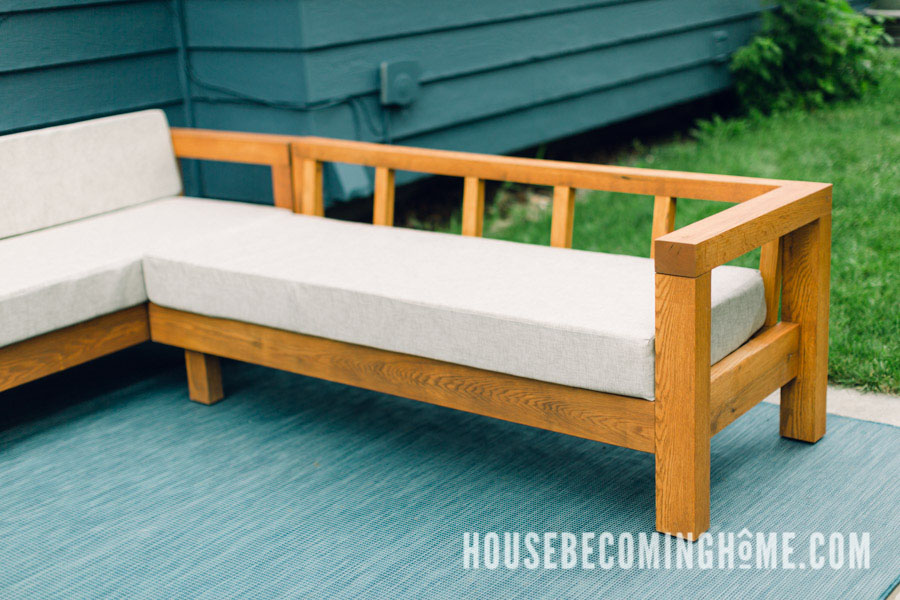 Outdoor L Couch Plans