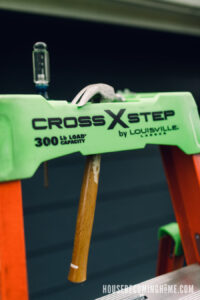 Spot for Hammer at Top of Cross Step by Louisville Ladder